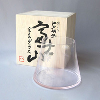 Edo Glass, Mt. Fuji Hoei Glass  (Sakura Color)