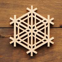 Kumiko Coaster, Hexagonal Gomagara