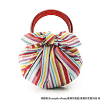 Modern Girl Bag, Strawberry Bag (w/Ring) / Stripe, Multi (Furoshiki)