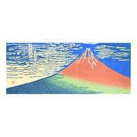 Thirty-six Views of Mount Fuji, Fine Wind, Clear Morning [Chusen-Dyed Tenugui]