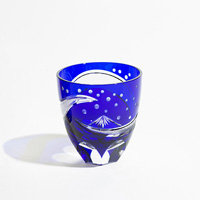 Hokusai BLUE (Edo Kiriko Glass)