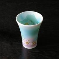 藍富士曙 輕陶瓷杯 天空藍色