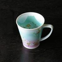 Blue Fuji Akebono Mug, Sky Blue