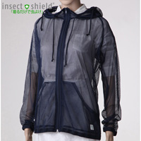 Insect-Repelling Mesh Hoodie, Navy