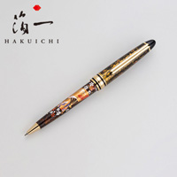 Hakuichi Fan Face, Lacquer, Ballpoint Pen