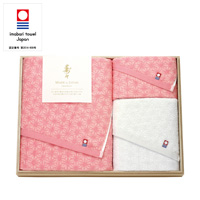 [Juju] Ehime Imabari Bath Towel, Face Towel, Hand Towel Set w/Wooden Box