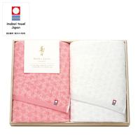 [Juju] Ehime Imabari Bath Towel, 2-Piece Set, w/Wooden Box