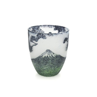 Pine & Fuji Carved Glass