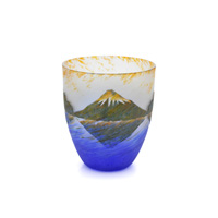 Upside-Down Fuji Carved Glass