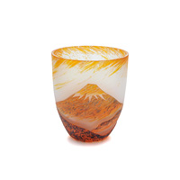 Evening Sun Fuji Carved Glass