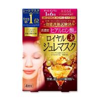 KOSE Clear Turn Royal Gelee Mask, Hyaluronan, 4 Pack