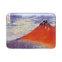 Hokusai Glass Paperweight, Fine Wind, Clear Morning