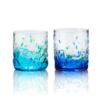 [Ryukyu Glass Village] Pair Of Murubushi On-The-Rocks Glasses