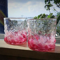 [Ryukyu Glass Village] Cherry Blossom Flower Textured Glass