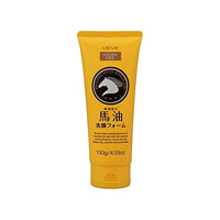 Kumano Yushi DEVE Horse Oil Face-Wash Foam, 130g