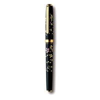 Kanazawa Gold Leaf Fountain Pen, Blizzard of Falling Cherry Blossoms