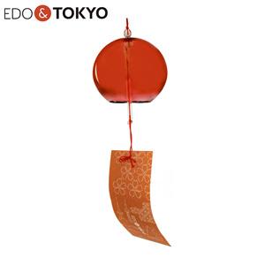 EDO & TOKYO 江戸風鈴 彩(IRODORI) 紋柄短冊 茜
