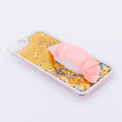 iPhone 6/6S Case Food Sample, Sushi, Otoro (Small) Sparkling Yellow