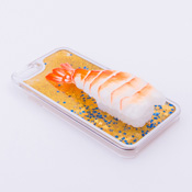 iPhone 6/6S Case Food Sample, Sushi, Shrimp (Small) Sparkling Yellow