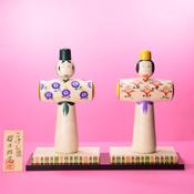 Kokeshi Doll Hina Style Shoji Design (w/Stand) B