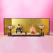 [Hina Doll] Tamahime (Folding Screen, Paper Lantern, Shell Box, w/Stand)