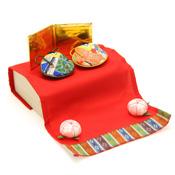 [Hina Dolls] Kimono Shell Hina Set (w/Paulownia Box), Limited Number