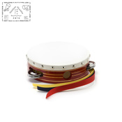 Yamayo Tambourine, Red Wooden Frame/Gold Line, 15cm