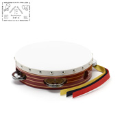 Yamayo Tambourine, Red Wooden Frame/Gold Line, 18cm