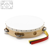 Yamayo Tambourine, Clear/Wood Grain (White Frame) 21cm