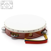 Yamayo Tambourine, Red Wooden Frame/Gold Line, 21cm