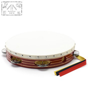 Yamayo Tambourine, Red Wooden Frame/Gold Line, 24cm