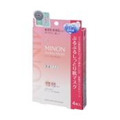 Minon Amino Moist Soft & Moisture-Rich Skin Mask, 22ml x 4-Pack