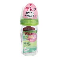 Authentic Breastfeeding Style Feeding Bottle, Heat-Resistant Glass, 160 Green N
