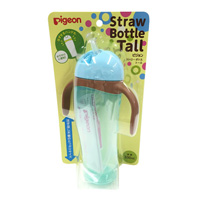 Pigeon Straw Bottle, Tall, Blue