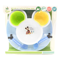 Baby Spilled Food Catch Plate, Mickey Mouse