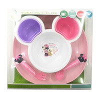 Baby Spilled Food Catch Plate, Minnie Mouse