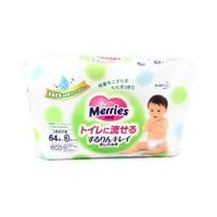Merries Flushable Bottom Wipes, Refill