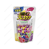 Kobayashi Pharmaceutical Chewing Breath Care, Pouch, Berry/Lemon/Grape