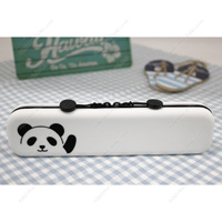 PuniLabo Slim Zipper Pouch, Panda