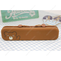 PuniLabo Slim Zipper Pouch, Bear