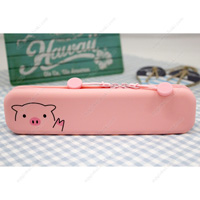 PuniLabo Slim Zipper Pouch, Pig