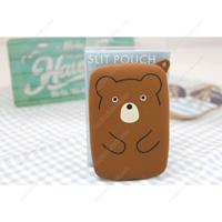 PuniLabo Slit Pouch, Bear