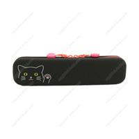 PuniLabo Slim Zipper Pouch, Black Cat