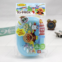 Anpanman Lunch BOX w/Fork, Blue