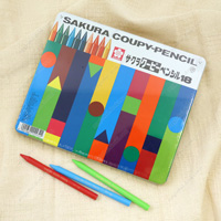 Sakura Coupy Pencil, 18 Colors (w/Can)