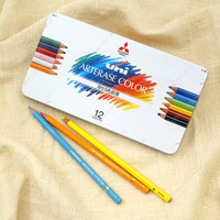 Mitsubishi Pencil Erasable Color Pencil, Uni Arterase Color, 12 Colors