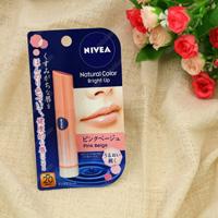 Kao Nivea Natural Color Lip Bright Up, Pink Beige SPF20/PA++