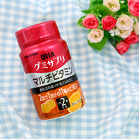 UHA Mikakuto Gummy Supplement, Multivitamin, Orange Flavor, 30 Days' Worth