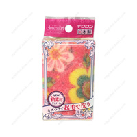 Cleanart Kitchen Sponge, Flower, Pink