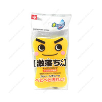 Gekiochikun Kitchen Sponge, Acrylic Non-Woven Cloth, Yellow